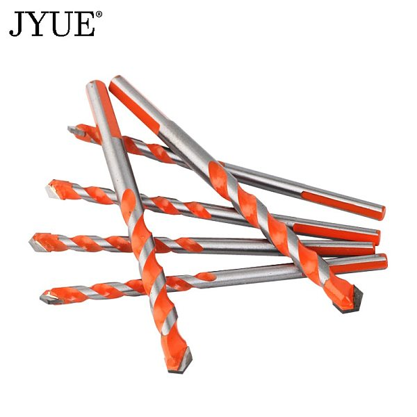 JYUE professional hard alloy drill bit for glass tile concrete hole opener diameter 3/4/5/6/8/10/12 mm twist drill bit