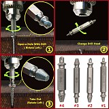 Drill Bit Double Side Damaged Screw Extractor Step Drill Bit Guide Set Broken Damaged Drill Remover Screw Extractor 4p With Case
