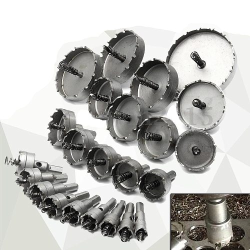 Carbide Tip TCT Drill Bit Hole Saw Stainless Steel Metal Alloy 16-65mm Drill Bits thick steel plates stainless steel Perforation