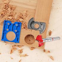 35mm Hinge Hole Jig Drill Guide Set DIY Woodworking Door Hole Opener Concealed Hinges Guide Door Saw Cabinet Accessories Tool