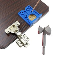 Hinge Hole Drilling Guide Locator Hinge Drilling Jig Drill Bits Woodworking Door Hole Opener Cabinet Accessories Tool 35mm