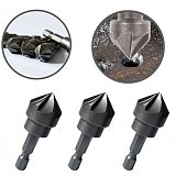 6 flute 90 Degree Countersink Drill Chamfer Bit 1/4  Hex Shank Carpentry Woodworking Angle Point Bevel Cutting Remove Burr Tools