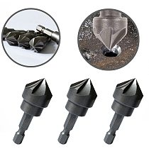 1PC 90 Degree Countersink Drill Chamfer Bit 1/4  Hex Shank Carpentry Woodworking Angle Point Bevel Cutting Cutter Remove Bur