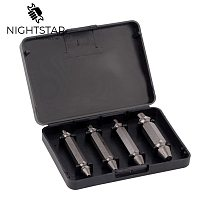 4Pcs Screw Extractor Drill Bits Guide Set Broken Damaged Bolt Remover Easy #1 #2 #3 #4 with Case Drill Bits for Metal