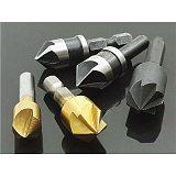 HSS Titanium Countersink Deburring Chamfering Drill 1/4 Hex Shank Taper Hole Cutter Countersunk Head Chamfering Power Tools