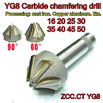 D16 D20 D25 D30 D35 D40 D45 D50  60and90degrees ZCC.CT YG8 Carbide chamfering drill Processing: cast iron. Copper aluminum. Etc.