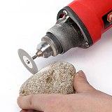 5Pcs 22mm Emery Diamond Cutting blades Drill Bit+1 Mandrel For Dremel Set New Drop Shipping