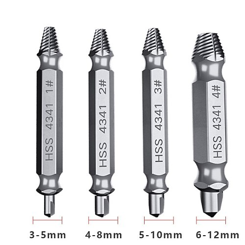 5pcs Damaged Screw Extractor Drill Bits Guide Set Broken Out Bolt stud screw extractor Easy out bolt extractor