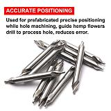 10Pcs 1.5x4mm Double Flutes HSS Center Drill Bits 60 Degree Angle Countersink Drill Bits Tool for Hole Machining Reduces Error