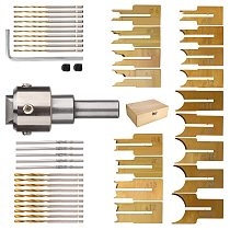 52Pcs Premium Beads Drill Bit Carbide Ball Blade Woodworking Milling Cutter Molding Tool Beads Router Bit Drills Bit Set
