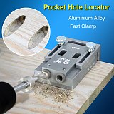 Pocket Hole Jig Kit System With Screwdriver 9mm Drill Bit Set For Carpenter WoodWorking Hardware Tools