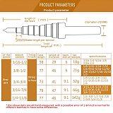 5pcs/Set HSS COBALT MULTIPLE HOLE 50 Sizes STEP DRILL BIT SET With Aluminum Case Arrival High Quality