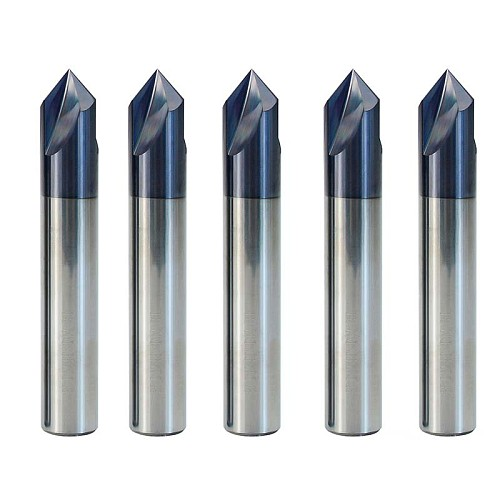 Carbide Chamfering Milling Cutter 60/90/120 Degrees 3 Flute Deburring Router Engraving Bit for Aluminum Copper CNC End Mill
