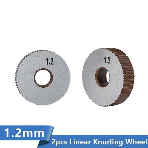 XCAN 2pcs 1.2mm Wheel Lathe Knurling Tools Diameter 28mm HSS Linear Knurling Wheel