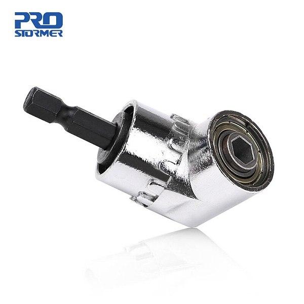 PROSTORMER 1/4 Hex Drill Bit Socket Holder Adaptor 105 Degree Angle Extension Right Driver Drilling Shank Screwdriver Magnetic