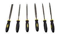 6 Pieces Metal File Mini Assorted Rasp Diamond Needle File set Repair Tool Jewelry Wood Grinding Hand File Tools