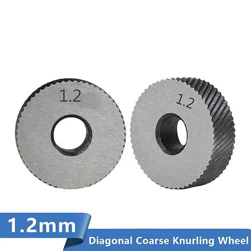 Lathe Wheel Knurling Tools 2pcs 1.2mm Diagonal Coarse Knurling Wheel