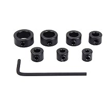 7pcs/set 3-12mm Drill Bit Tools Depth Stop Collar Ring Positioner Spacing Ring Locator Woodworking Tools With Hex Wrench