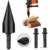 32/42MM Firewood Drill Bit High Carbon Steel Punch Spiral Drill Round Square Hex Shank Wood Split Cone Splitter Woodworking Tool