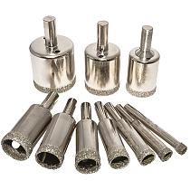 10pcs Drilling Holesaw Cutting Kit 8-50mm Set Hole Saws & Accessories for Glass Ceramic Tile Drilling Tools