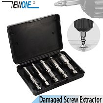 NEWONE Drill Out Damaged Screw Extractor Out Remover Handymen Broken Bolt Stud Removal Tool Kit in case