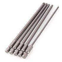 5Pcs/Set Shank 1/4  S2 Steel 150mm Long Magnetic Hex Cross Head Screwdriver Screw Driver Drill Bits Set #246979