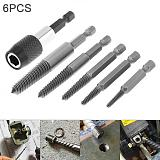 6pcs/lot  HSS Screw Remover Drill Bits with Hex Shank and Spanner Broken Speed Out Guide Set Broken Bolt Remover Easy Out