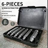 Meijuner 6pcs Material Damaged Screw Extractor Speed Out Drill Bits Tool Set Broken Bolt Remover Repair Tool