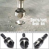 3pcs/set Hex Countersink Boring Set for Wood Metal Quick Change Drill Bit Tools
