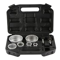 1set 22, 28, 35, 44, 68 And 73 Mm  For Tile Ceramic Marble Glass Diamond Coated Hole Saw Drill Bit Tool Set