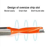 UCHEER 1pc Alloy Woodworking Forstner Drill bits Hole Opener three in one reversible Gang Drill for Wood Carving Machine