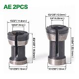 1-3pcs 6mm 6.35mm 8mm Collet Chuck High Engraving Trimming Machine Electric Router Bit Collets Sets Cheap Price
