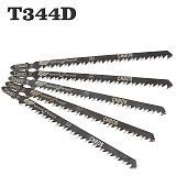 5PCS High Quality 5pcs Hcs HSS Ground Teeth Straight Cutting T-Shank Jig Saw Blade for Wood