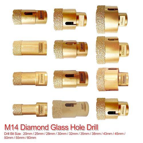 M14 Vacuum Brazed Diamond Drilling Core Bit Dry Diamond Drill Bit 20mm-60mm for Tile Hole Saw Stone Drill Bit Crown Drilling Bit