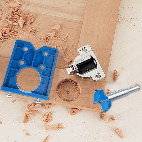 Door Cupboard Hole Locator Door Hinge Positioning Template Precise Woodworking Hinge Drilling Hole Guide Hinge Drill