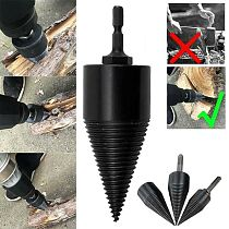 32/42mm Firewood Machine Drill Wood Cone Reamer Punch Driver Square Shank/Round Shank/Hex Shank Drill Bit Split Drilling Tools