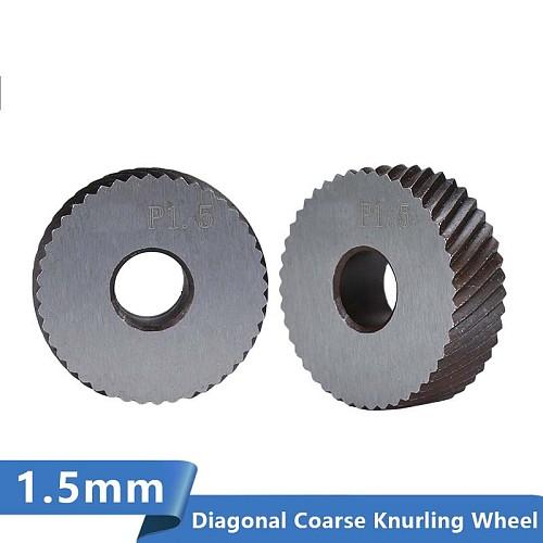 Diagonal Coarse Knurling Wheel For Metal Lathe 2pcs 1.5mm Lathe Wheel Knurling Tools
