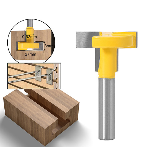 1pcs Top Quality T-Slot & T-Track Slotting Router Bit - 8  8'' Shank For Woodworking Chisel Cutter Wholesale Price