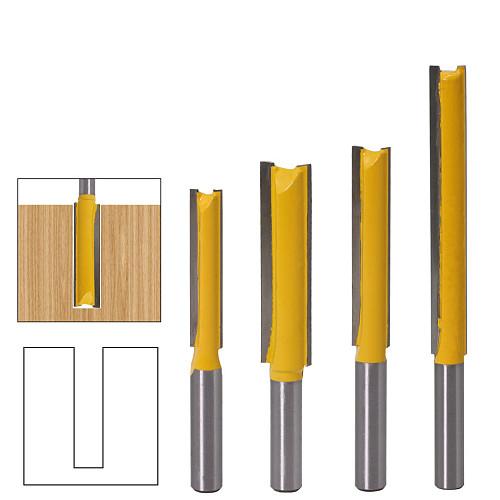 1Pcs 8mm  Shank Long Cleaning Bottom Router Bit Cutter CNC Woodworking Clean Bits