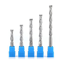 CNC Engraving Router Bit Flat Nose End Mill 2 Two Flutes Spiral Upcut Milling Cutter Tool Carbide Bits for Wood MDF PVC