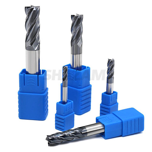 Milling Cutter Hrc50 Endmill Alloy Tungsten Steel Cnc Maching SHAZAM Wholesale Top Milling Machine Tools For Steel Woodworking