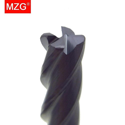 MZG Cutting Lengthen End Mill 75L HRC55 4 Flute 1mm Tungsten Steel Spiral Tools Milling Cutters Round Ball Nose