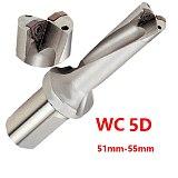 BEYOND U Drill 5D WC 51 52 53 54 55 mm Indexable Insert Drills Bit Tool Lathe Metal Drilling Tools for WCMT Inserts CNC C40 WC08