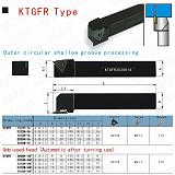 MZG KTGFR 16 20 25 mm  Groove Machining Cutting Toolholders Cutter CNC Lathe Parting Face Grooving Tools Holders