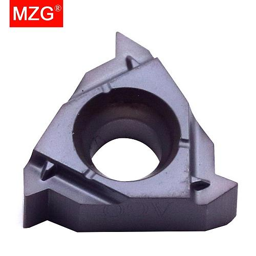 MZG Indexable 08IRA60 ZM860 Tungsten Screw Thread Carbide Inserts Used for Stainless Steel Threading  CNC Internal Tools Holder