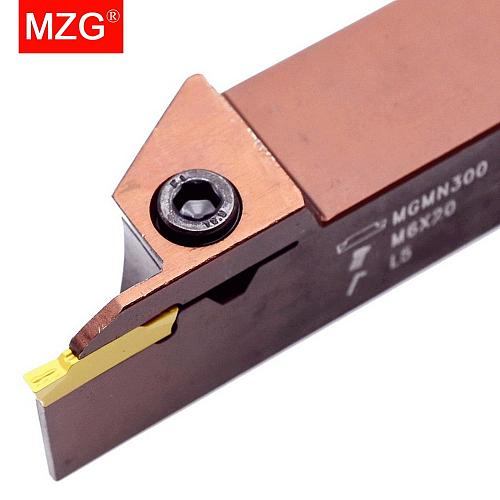 MZG MGEHR Spring Steel Deeper Groove 35 25 18 mm Depth Cutter CNC Lathe External Parting Off MGMN Toolholders Grooving Tools