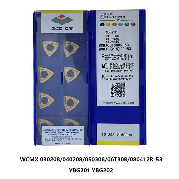 Original ZCC U Drill Inserts WCMX WCMX030208 WCMX040208 WCMX050308 WCMX06T308 WCMX06T308R-PG WCMX080412 53 YBG201 YBG202 Lathe