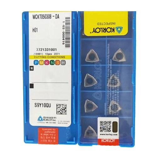 U Drill Inserts for Aluminum WCKT WCKT030208-DA WCKT040208-DA WCKT050308-DA WCKT06T308-DA H01 Carbide Drills CNC Cutter