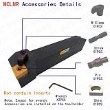 MZG MCLNR 16mm 20mm 25mm 16mm CNC Lathe Arbor Machining Cutter External Turning Tools Holder Boring Metal Cutting Toolholders