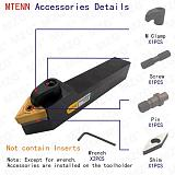 MZG 20mm 16mm MTENN Machining Boring Cutter Metal Carbide TNMG Cutting Toolholder External Turning Tool Holder CNC Lathe Arbor